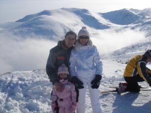 Павел Главинов със семейството си