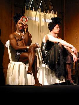Алфредо и Иван Радоев в Сатиричния театър